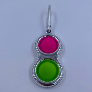 Simple Dimple med to pop Metallic Style sølv Fidget Toy