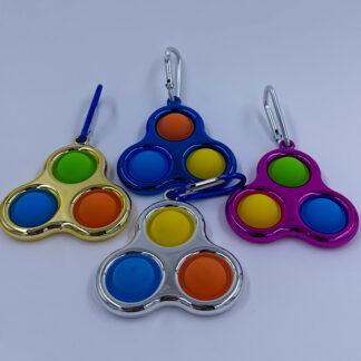 Simple Dimple metalic style Fidget Toy