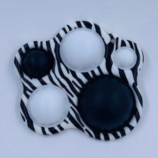 Simple Dimple Zebra Stribet med fem pop Fidget Toy
