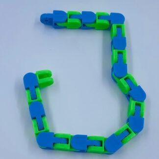 Wacky Track grøn blå Fidget Toy