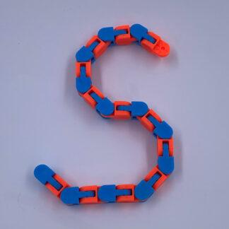 Wacky Track Orange Blå Fidget Toy