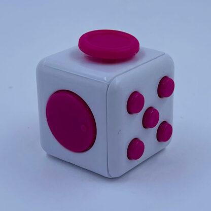 Fidget cube hvid pink Fidget Toy