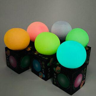 Glow in the dark Tofu ball Legetøj