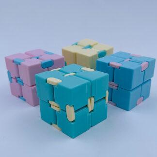 Infinity cube pastelfarver antistress Fidget Toy