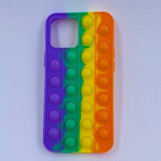 iPhone Pop it cover regnbuefarvet Fidget Toy