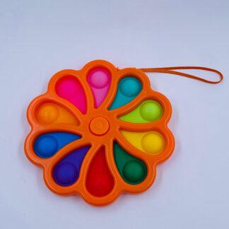 Kæmpe Fidget Spinner Simple Dimple orange Fidget Toy