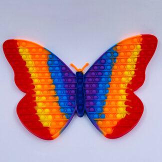 Kæmpe Pop it sommerfugl regnbuefarvet Legetøj
