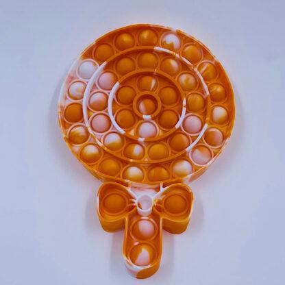 Lollipop Pop it orange slikpind Legetoej