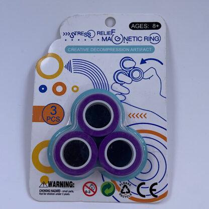 Magnet Ring Finger Ring lilla Fidget Toy