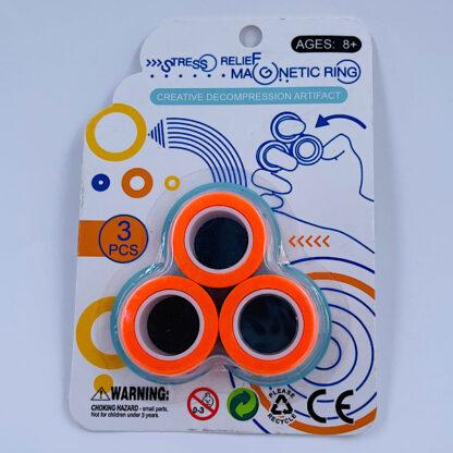 Magnet Ringe Finger Rings orange Fidget Toy