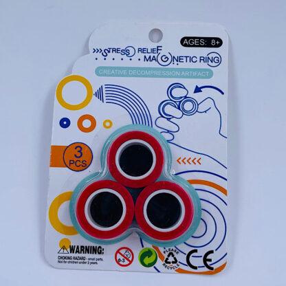 Magnet Ringe Finger Rings rød Fidget Toy