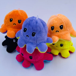 Mini blæksprutte sur vendbar nøglering Fødselsdag