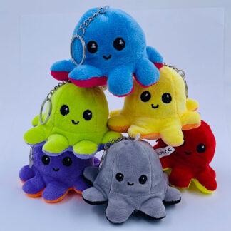 Mini blæksprutte vendbar nøglering Fødselsdag