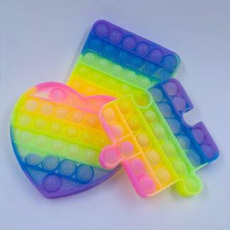 Pop it pastelfarvet klare med glimmer Små gaver