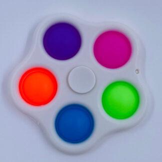 Simple Dimple Fidget Spinner hvid Små gaver