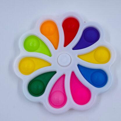 Simple Dimple Fidget Spinner kæmpe hvid Legetøj