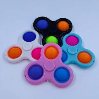 Simple Dimple Fidget Spinner med tre pops Små gaver