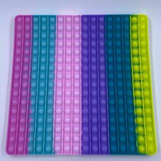 Kæmpe Mega Pop it firkant pastelfarvet Pop Fidget