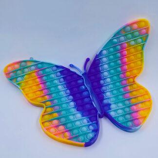 Kæmpe mega sommefugl Pop it pastelfarvet Fidget Toy
