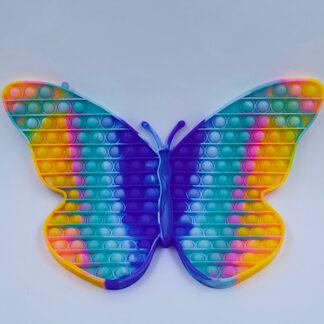 Kæmpe mega sommerfugl Pop it pastelfarvet regnbue Fidget Toy