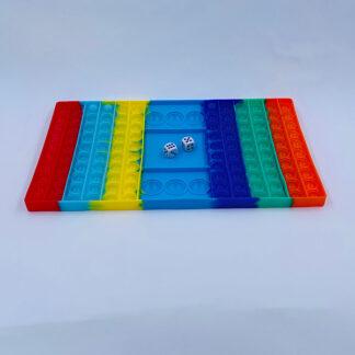 Pop it brætspil med terninger legetøj