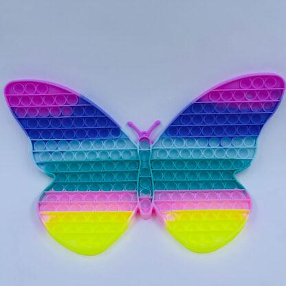 Pop it pastelfarvet regnbue sommerfugl Fidget Toy
