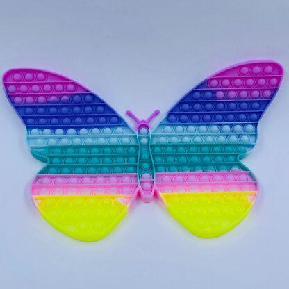 Pop it sommerfugl kæmpe pastelfarvet regnbue Fidget Toy