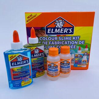 Elmers Gennemsigtig farvet slim sæt Colour slime kit