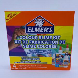 Elmers gennemsigtig slim sæt Colour slime kit æske