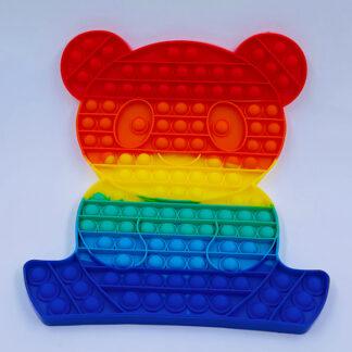 Pop it bamse regnbuefarvet Fidget Toy