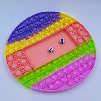 Pop it brætspil med terninger pastelfarvet Fidget Toy