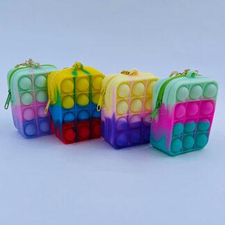 Pop it Bubble pung regnbuefarvet Fidget Toy