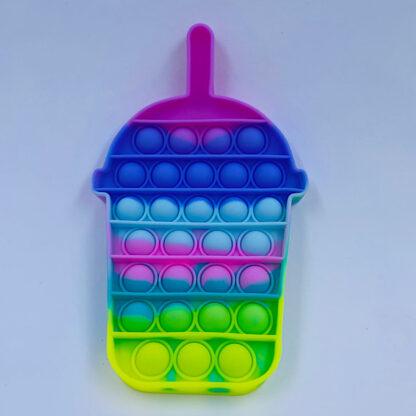 Pop it Bubble the regnbuefarvet pasteller Fidget Toy