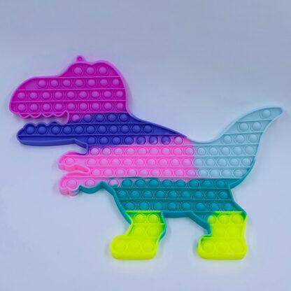 Pop it dino pastelfarvet regnbue gigant Fidget Toy