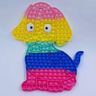 Pop it hund kæmpe pastelfarvet Fidget Toy