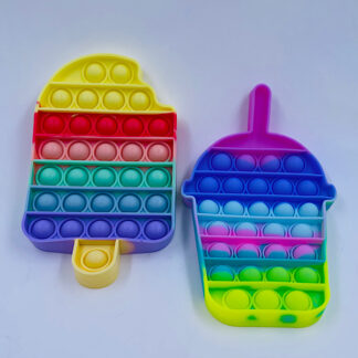 Pop it ispind eller Bubble the regnbuefarvet Fidget Toy