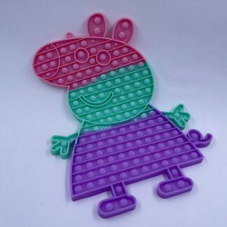 Pop it pastelfarvet Gurli gris Fidget Toy