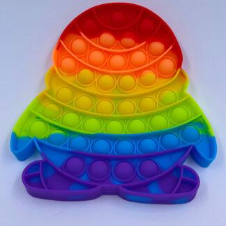 Pop it pingvin regnbuefarvet Fidget Toy