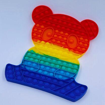 Pop it regnbuefarvet bamse Fidget Toy