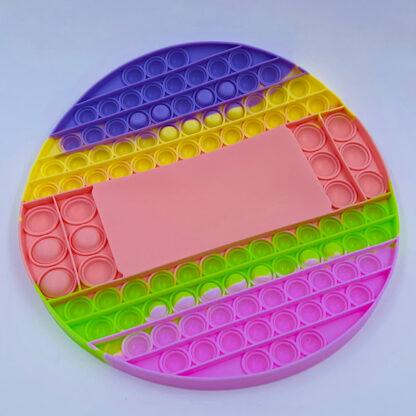 Pop it spil med terninger pastelfarvet Fidget Toy