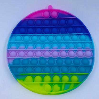 Pop it stor rund pastelfarvet Fidget Toy