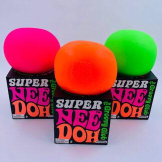 Super Nee Doh i neon farver fra Schylling kæmpe klemmebold legetøj