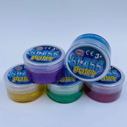 Glass putty slim med glimmer og er i mange flotter farve og unikke
