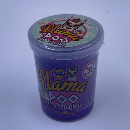 Llama Poo Glimmer Slime Små Gaver Lilla