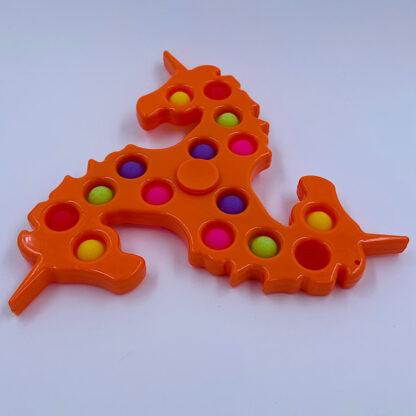orange enhjoerninge simpledimple fidgetspinner