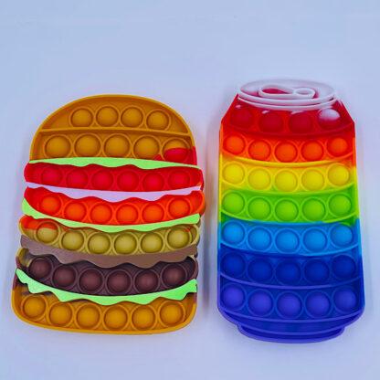 Burger og sodavand pop fidgets til de lækkersultne