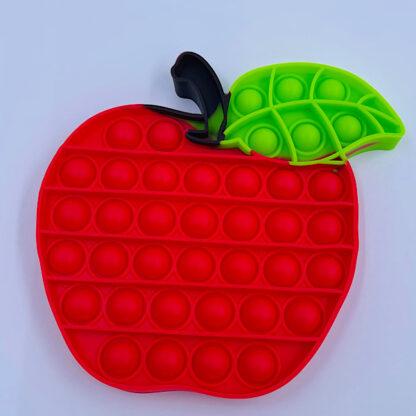 Knald rødt æble med en smuk dragefrugt frugt æble