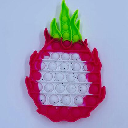 Knald rødt æble med en smuk dragefrugt frugt