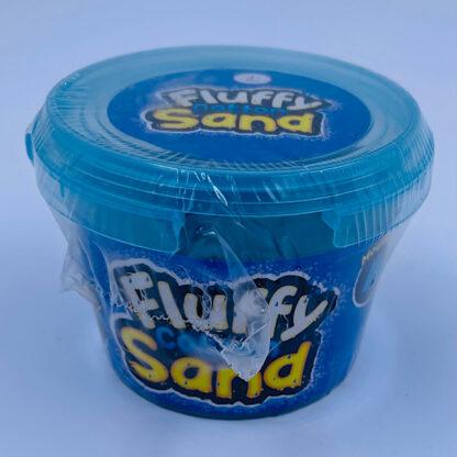 fluffy cotton sand som er let at forme samt mega stretchy og blødt i blaa