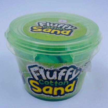 fluffy cotton sand som er let at forme samt mega stretchy og blødt i grøn